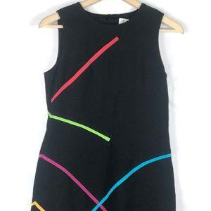 David Meister Dresses - David Meister Black Midi Dress Black Rainbow 4